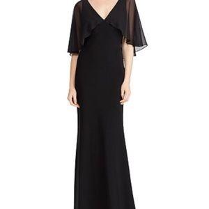 Lauren Ralph Lauren Georgette-Overlay Jersey Dress